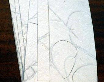 Envelope handmade, handmade mulberry paper floral envelope, 8 pieces