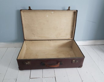 Vintage Suitcase - Vintage Brown Suitcase - Vintage Luggage -  Home  - Globe Trotter
