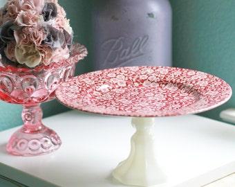 Cake Stand / Cupcake Stand / Handcrafted Dessert Pedestal / Jewelry Holder Pedestal / Bridal Gift Wedding Gift Birthday Gift / Hostess Gift