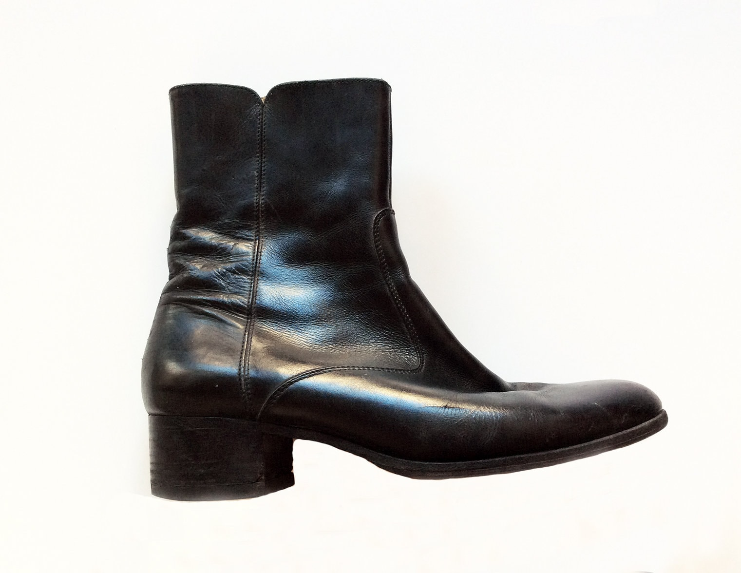 b6b2fcfb8bafc ... Boots cuir vintage - Femme ou homme - Taille 39 39 Taille 970ede ...