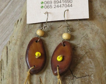 Earring natural seeds earring natural forest seeds