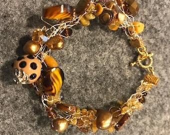 Tawny Tones Bangle Bracelet