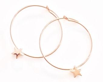 Rose Gold Hoops - Gold Filled Hoops - Small Hoops - Thin Hoops - Small Hoop Earrings - Skinny Hoops - Dainty Hoops - Sleeper Earrings -