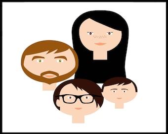 Custom Portrait, Family Tree Illustration, Custom Family Tree, Family Tree Alternative, Custom Illustration, Mothers Day