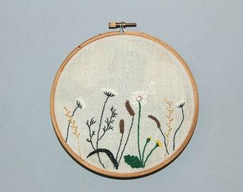 Handmade embroidery - plants