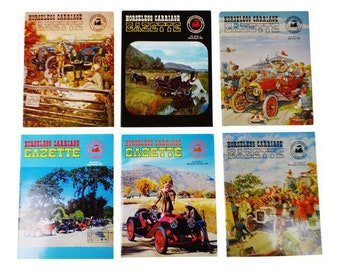 Horseless Carriage Gazette Magazines 1970 Full Year Antique Automobiles, Cars - Group of 6