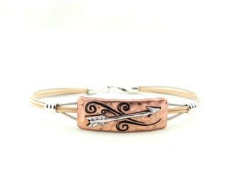 Arrow Bracelet - two tone