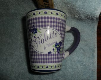"""Adorable Purple """"Violette de Toulouse"""" by Enesco cup"""