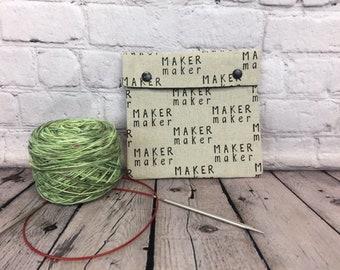 Maker Maker  Circular Knitting Needles Case or Knitting Notions Case, Crochet notions case, Accessories case, Circular Case