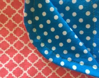 "Reversible Flannel Receiving Blanket (34"" X 34"")"