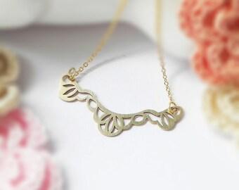 Spitzen Halsband Halskette, elegante Serie