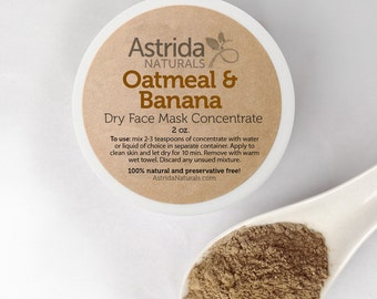 Clay Face Mask / Soothing Oatmeal & Banana Mask / Rhassoul Clay Mask / Moroccan Red Clay Mask / Kaolin Clay Mask