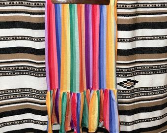 Vintage rainbow striped skirt