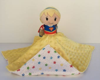 Ultra Plush and Snuggly Super Girl Lovey Blanket