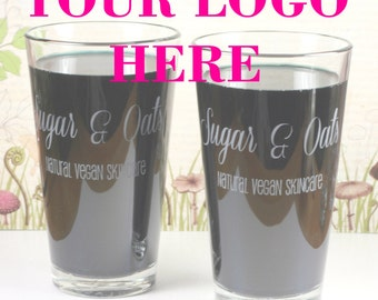 Your Logo! etched Glass, promotional item, giveaway, business gift,coworker gift,
