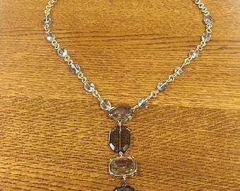 Chico's Costume Jewelry Statement Plastic Jewel Necklace