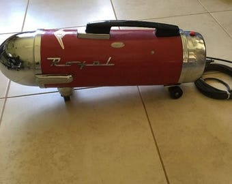Red mid century modern 1950's Royal vacuum cleaner ATOMIC  RARE!!!!!