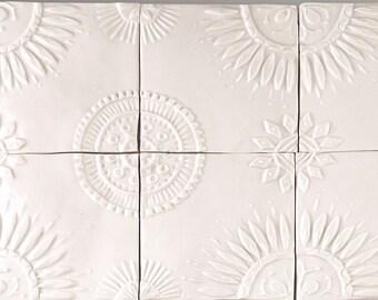 handmade porcelain tiles kaleidoscope design