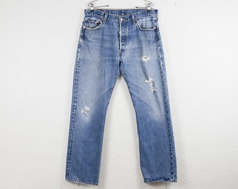 Vintage Levi's 501 Jeans - Button Fly Relaxed Fit Straight Leg - Distressed