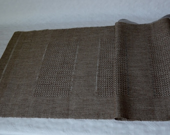 Handwoven table runner Linen table runner Handwoven tablechoth
