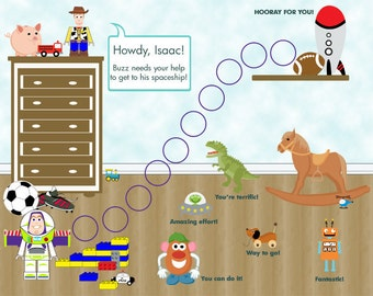 PERSONALIZED Printable Child Behavior Incentive Chart - It's a Toy's Story