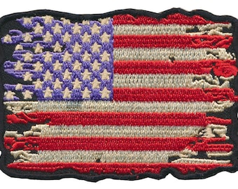 """Battle Tested """"USA"""" American Flag Embroidered Patch"""