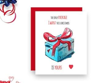 Sexy Christmas Card - Your Package - Christmas Card - Naughty Christmas card
