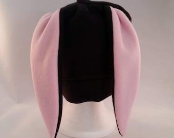 Custom black bunny rabbit hat short ears