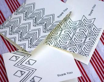 Tribal Notes (13 Designs Included) - A2 Printable Thank You Cards