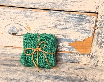 Teal Crochet Coasters - Teal Crochet Mug Rug - Crochet Coasters - Drink Coasters