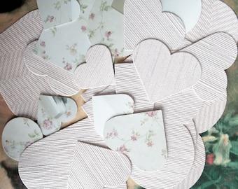 24 hearts paper Garland, embellishment, hobby, textile arts, scrapbooking, wedding, Valentine's day, 992