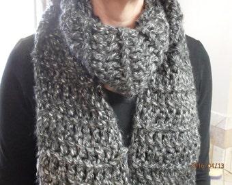 Scarf, chunky style crochet, hand made