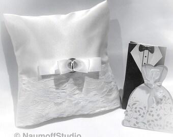Ring Pillow, Ring Bearer Pillow, Ivory Wedding Ring Bearer Pillow, Wedding Accessories, Ring Holder