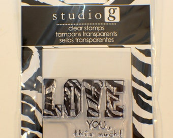 Studio G Love You This Much Cling Clear Rubber Stamp