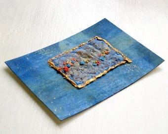 ACEO hand embroidered original fiber art
