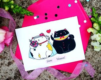 Wedding Greeting Card, Beautiful Wedding Card, Funny Card