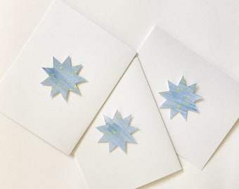 9-pointed star greeting card - blank