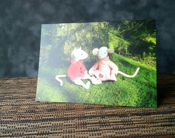 Greetings card - Thornton and Rosie Mouse