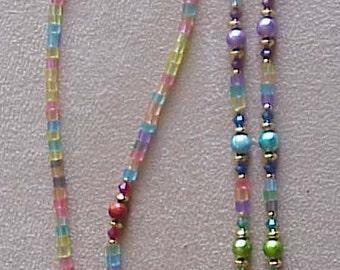 Fun and Funky Rainbow Eyeglass Chain Holder
