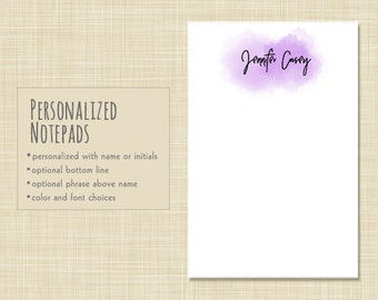 Personalized Notepad - Modern Edgy Notepad - Note Pad Gift - stationery