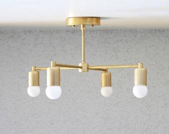 Unfinished Brass chandelier, Raw Brass chandelier, unfinished modern chandelier