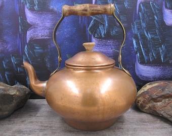 Copper brass vintage kettle or teapot