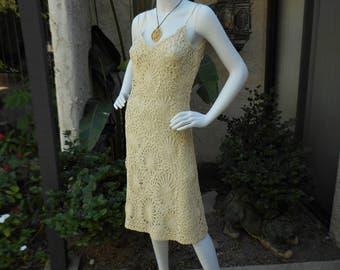 Vintage 1960's Junior Sophisticates Light Beige Dress - Size 4/6