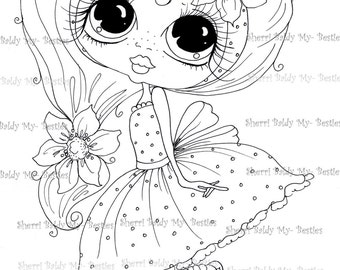 INSTANT DOWNLOAD digitale Digi Stamps Big Eye Big hoofd poppen Digi Scan0001 2 kleine QT Besties door Sherri Baldy