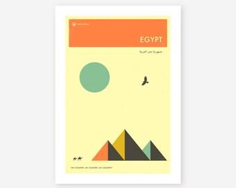 EGYPT TRAVEL POSTER (Giclée Fine Art Print/Photo Print/Poster Print) by Jazzberry Blue