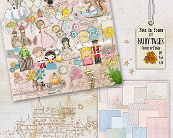 Digital kit FAIRY TALE,  fun, princess, dragon, castles, prince, fairy