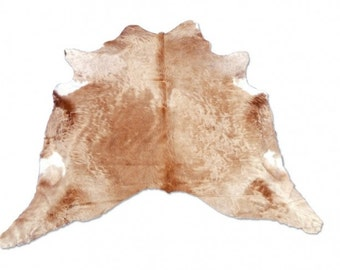 New Brazilian Shades of Beige Cowhide Rug Leather