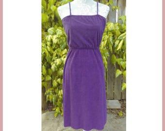 Cute Purple Terry Beach Dress