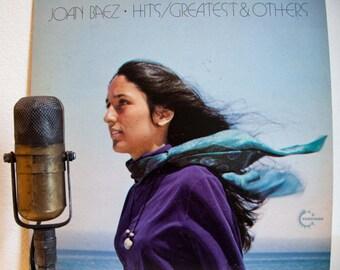 "Joan Baez Vinyl Record Album 1970s Folk LP ""Hits (Greatest Hits & Others"" (1973 Vanguard with ""Let It Be"") Vintage Gatefold Vinyl"