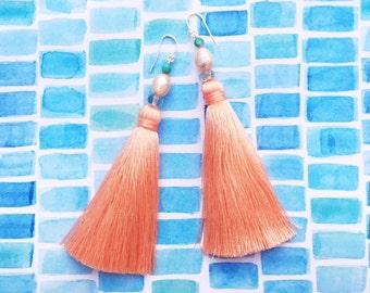 String Bikini Tassel Earrings